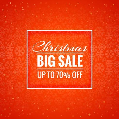 Feliz Navidad tarjeta gran venta fondo vector