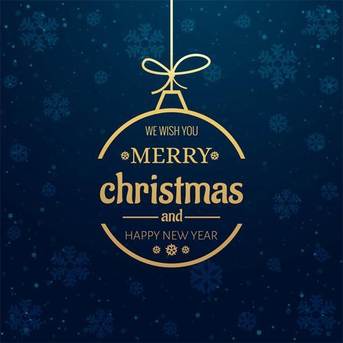 Vacker god jul dekorativ boll bakgrund