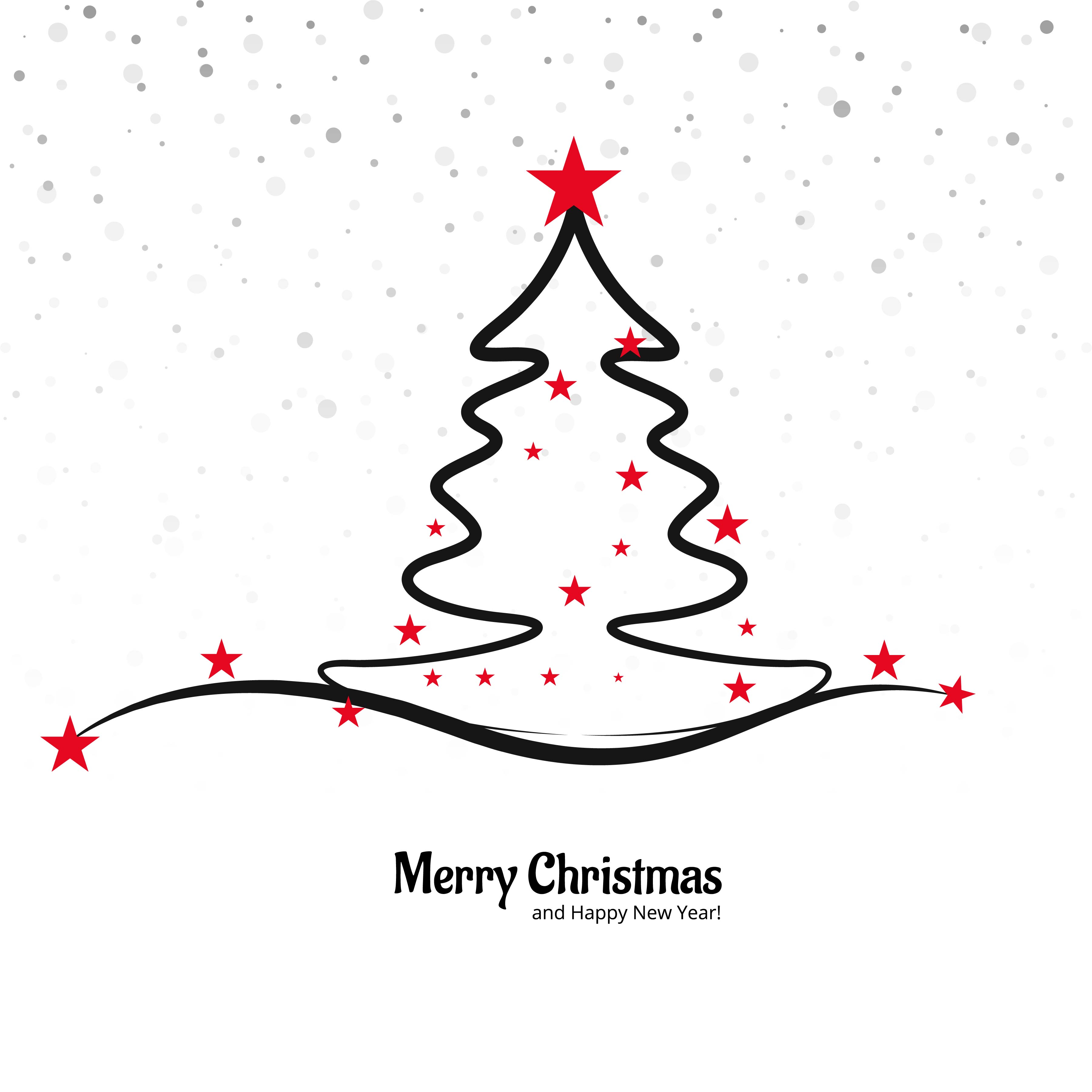 Beautiful merry christmas tree background - Download Free Vector Art ...
