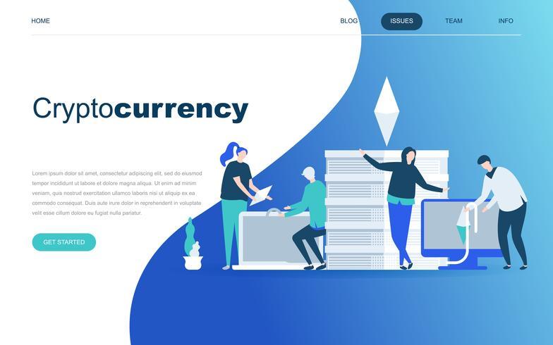Moderno concetto di design piatto di Cryptocurrency Exchange