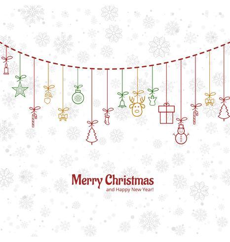Beauitful-Hintergrundvektor der frohen Weihnachten der Karte