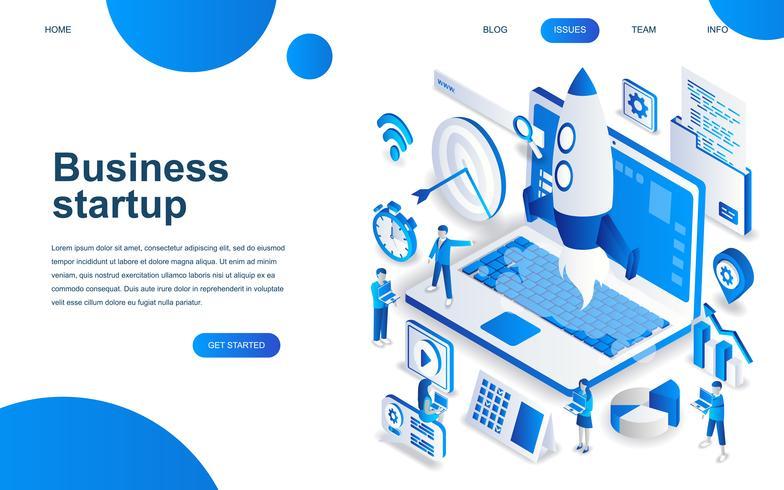 Concept de design isométrique moderne de Startup Your Project