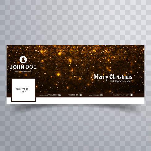 Schönes Facebook-Abdeckungsschablonendesign der frohen Weihnachten
