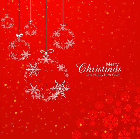 Schöner dekorativer Ballhintergrund der frohen Weihnachten