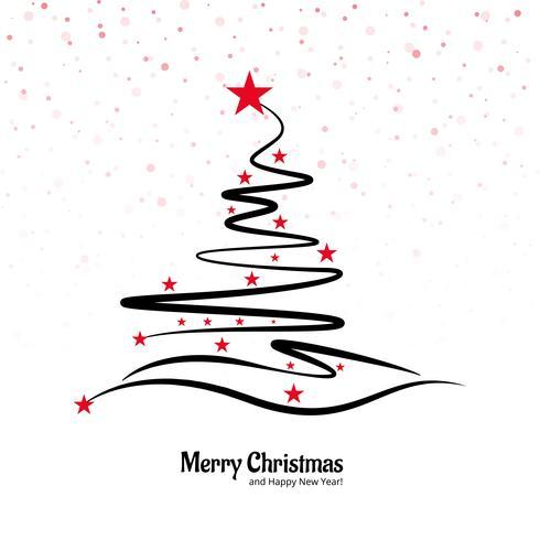 Schönes kreatives Baumdesign der frohen Weihnachten