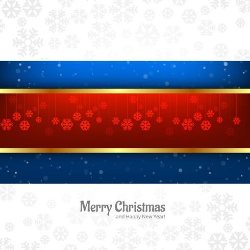 Weihnachtsschöne Karte mit Schneeflockenhintergrundvektor