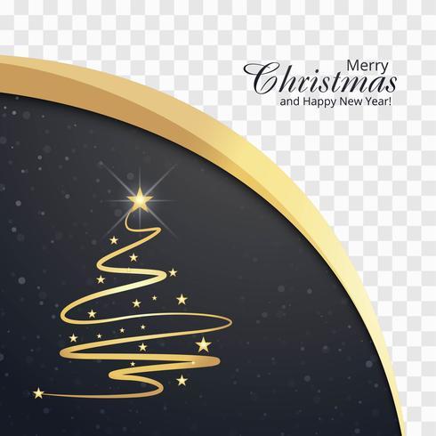 Schöne Karte der frohen Weihnachten mit Wellenhintergrund