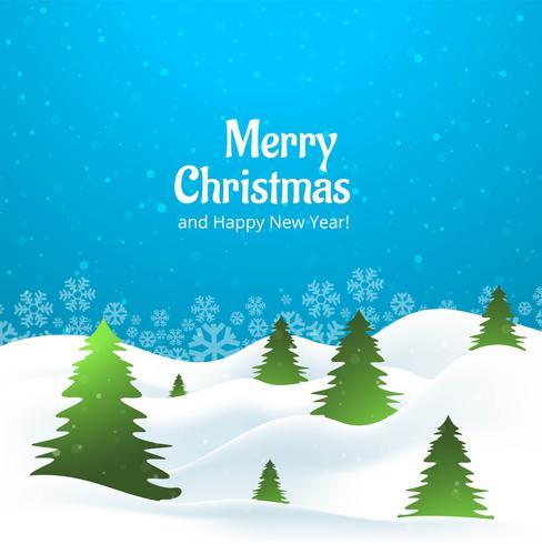 Schöner kreativer Baum der frohen Weihnachten mit Schneeflockenkarte desi