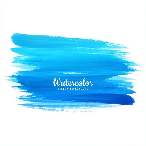 Abstract blue watercolor stroke design