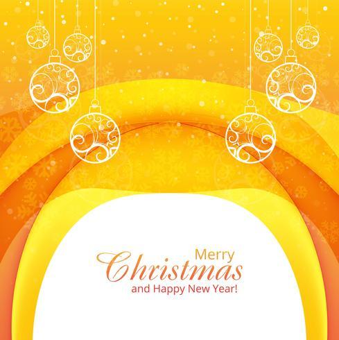 Elegante frohe Weihnachten dekorativ mit Ballhintergrundwelle vec