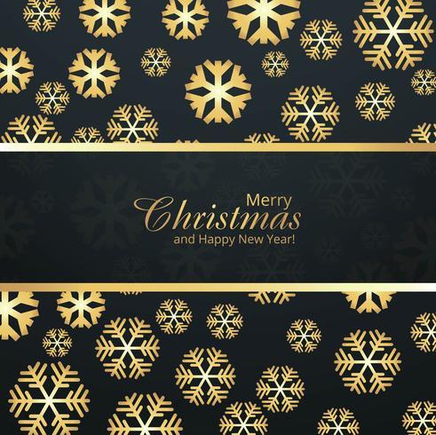 Kartenfeier der frohen Weihnachten mit Schneeflockenhintergrund