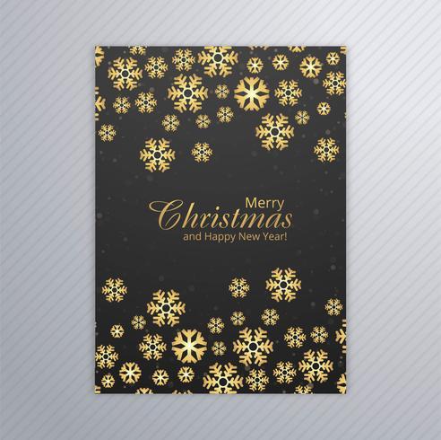 Karte der frohen Weihnachten mit Schneeflockenbroschüren-Designvektor