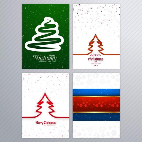 Schönes Kartenbroschüren-Setdesign der frohen Weihnachten