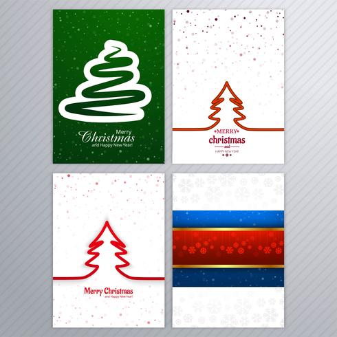 Diseño determinado del folleto hermoso de la tarjeta de la Feliz Navidad