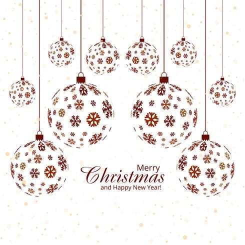 Fondo del festival de la bola del copo de nieve de la feliz Navidad