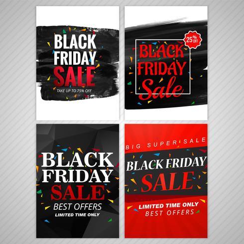 Progettazione stabilita dell'opuscolo di vendita di venerdì nero astratto