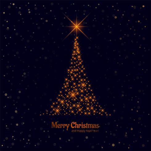 Schöner glänzender Baumhintergrundvektor der frohen Weihnachten