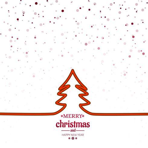 Eleganter fröhlicher Weihnachtsbaumkartenhintergrund