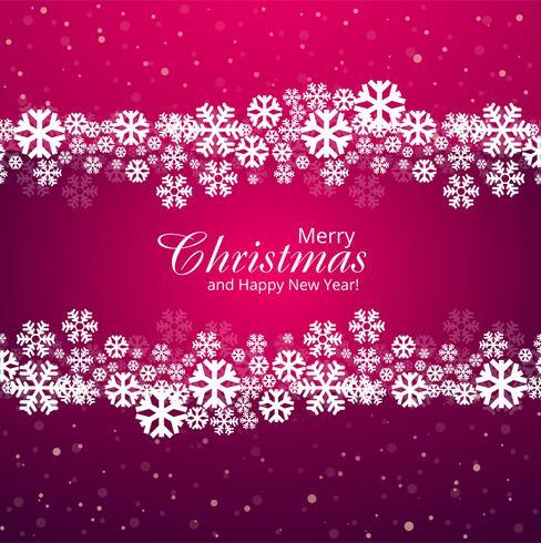 Vector de fondo de tarjeta de feliz Navidad copo de nieve
