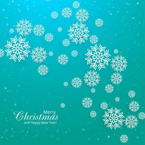 Karte der frohen Weihnachten mit Schneeflockenhintergrundvektor