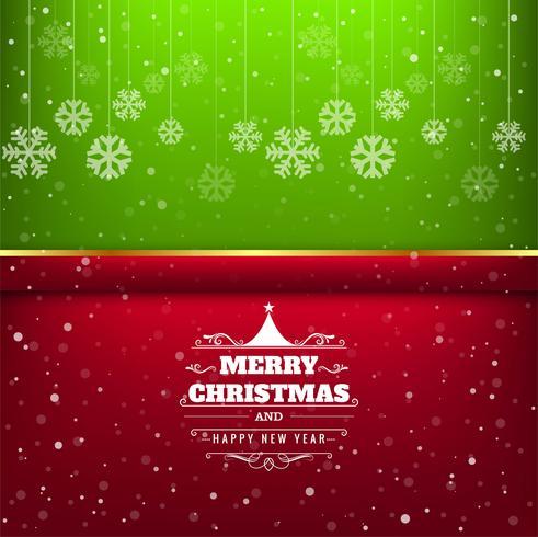 Bunter Hintergrund der eleganten Karte der frohen Weihnachten