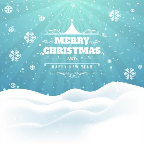 Schöner Karten-Designvektor der frohen Weihnachten des Funkelns