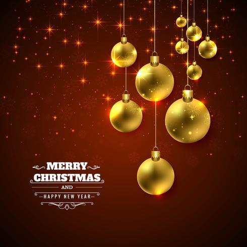 Bunter Hintergrund des glänzenden Ballfestivals der frohen Weihnachten