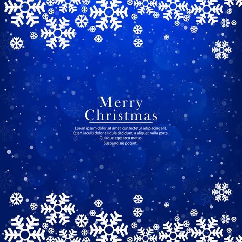 Schöne Karte der frohen Weihnachten des Funkelns mit Schneeflocke backgroun