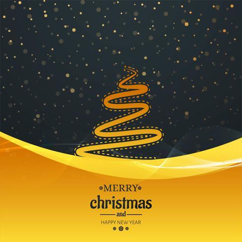 Schöne funkelt Karte der frohen Weihnachten mit Wellenhintergrund