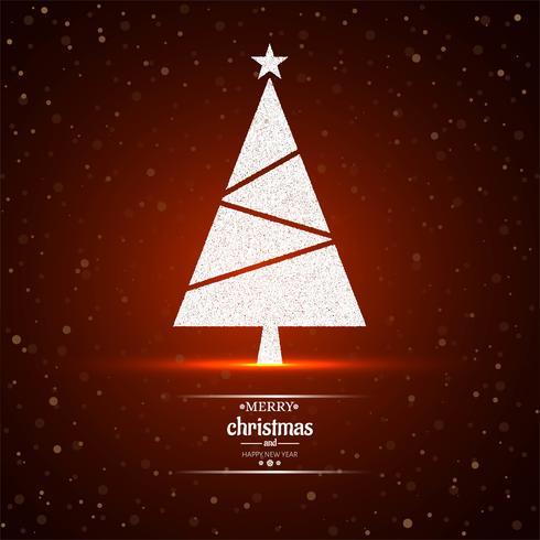 Fröhlicher roter Hintergrundvektor des Weihnachtsbaums