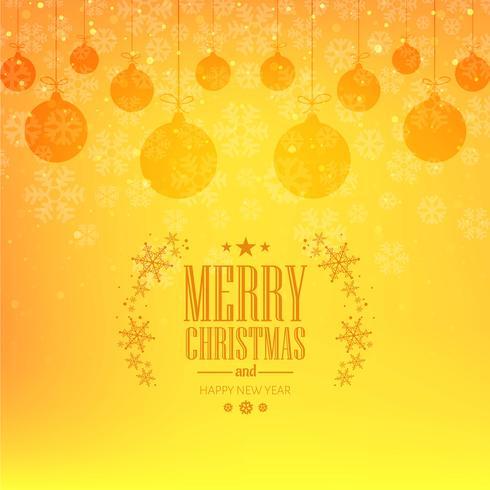 Elegante Karte der frohen Weihnachten mit Ballhintergrundvektor