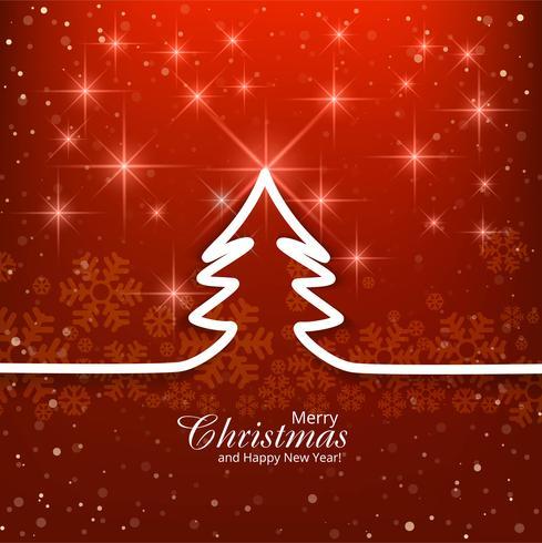 Moderner roter Hintergrund der frohen Weihnachten