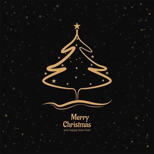 Karte der frohen Weihnachten mit glänzendem Baumvektordesign