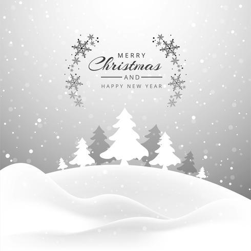 Schöne fröhliche Weihnachtsbaumkarte mit Funkelnhintergrund