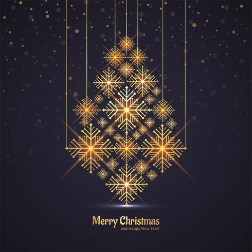 Baumfeier-Grußkartendesign vect der frohen Weihnachten glänzendes