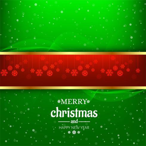 Bunter Hintergrundvektor der schönen Karte der frohen Weihnachten
