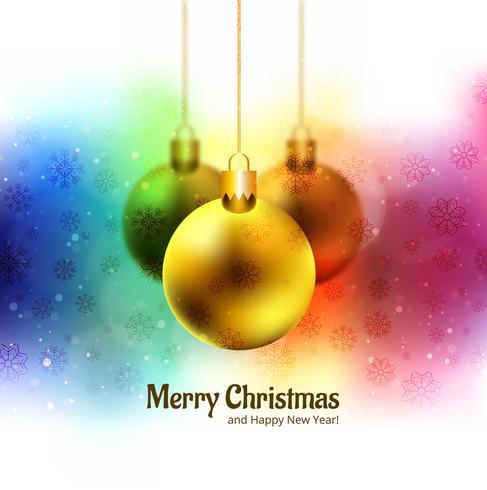 Vrolijke kerstballen glitters kleurrijke festival achtergrond