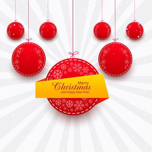 Fondo colorido del festival brillante de la bola de la feliz Navidad