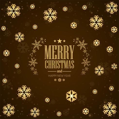 Schöner Schneeflocken-Hintergrundvektor der frohen Weihnachten