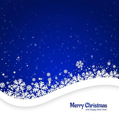Blauer Hintergrund der frohen Weihnachten mit Schneeflockendesign