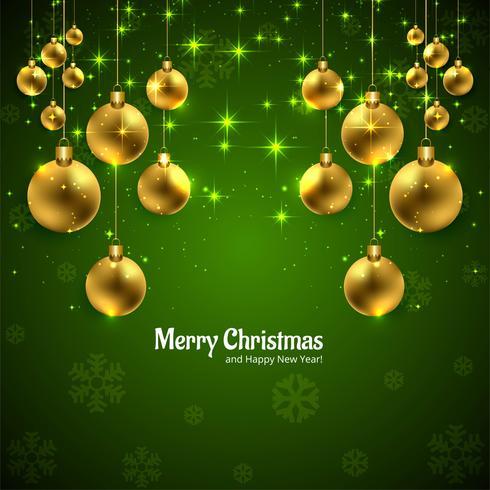 Karte der frohen Weihnachten mit glänzender Ballhintergrundillustration