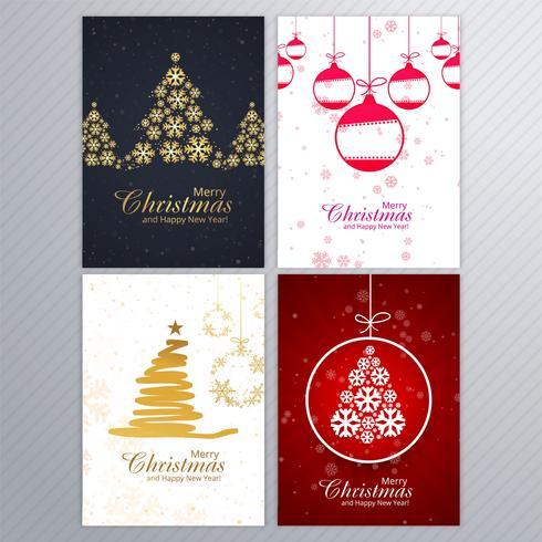 Kartenhintergrund-Broschüren-Set der frohen Weihnachten