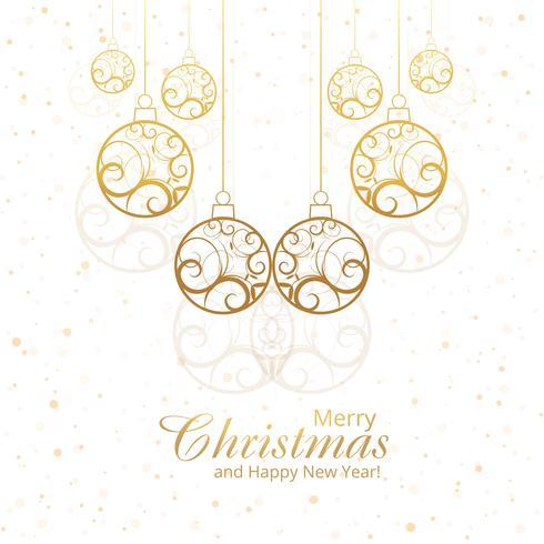 Vacker god jul dekorativa bollar design