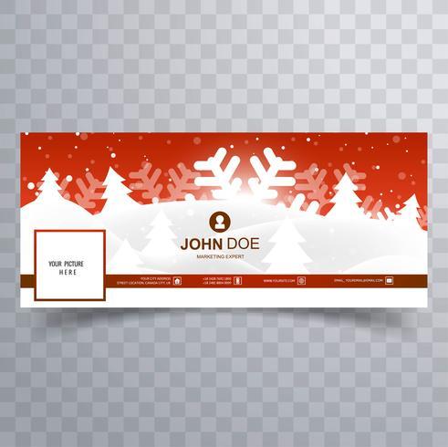 Diseño de plantilla de cubierta de facebook feliz Navidad hermosa