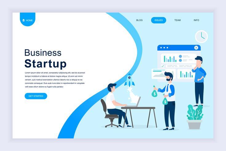 Modern flat design concept of Startup