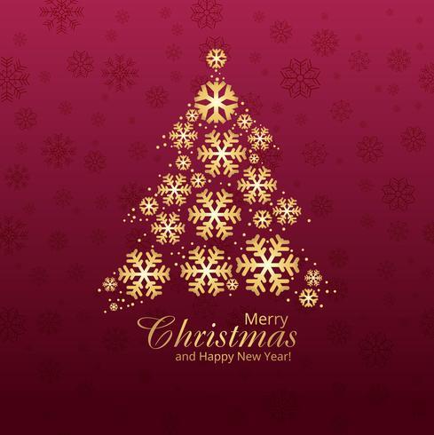 Karten-Designillustration der frohen Weihnachten des Schneeflockenbaums