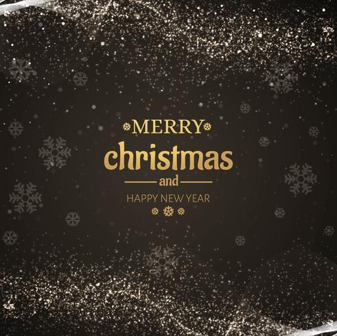 Schöne funkelt Kartendesign der frohen Weihnachten
