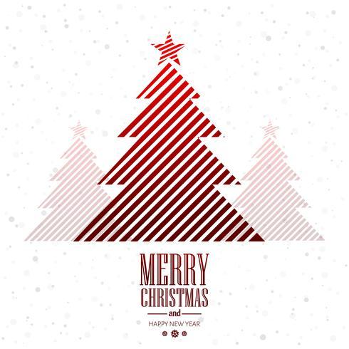 Schöner kreativer Baumkartenhintergrund der frohen Weihnachten