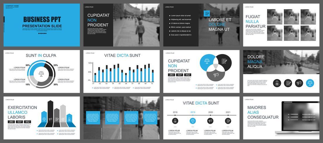 La presentazione aziendale fa scorrere i modelli dall'infografica