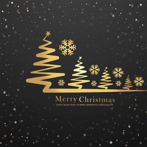 El Dorado Blue Card >> Elegant merry christmas tree card design vector - Download ...